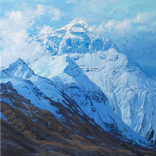 Mount Everest rising into the Ethereal