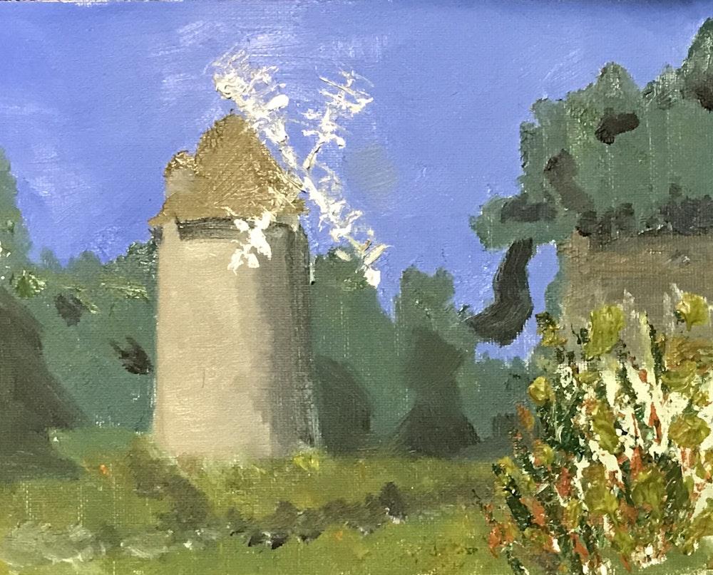 Mill in a breeze
