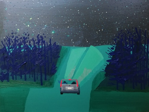 This is a long drive... New Paintings by Jack Bishop. Online October 31