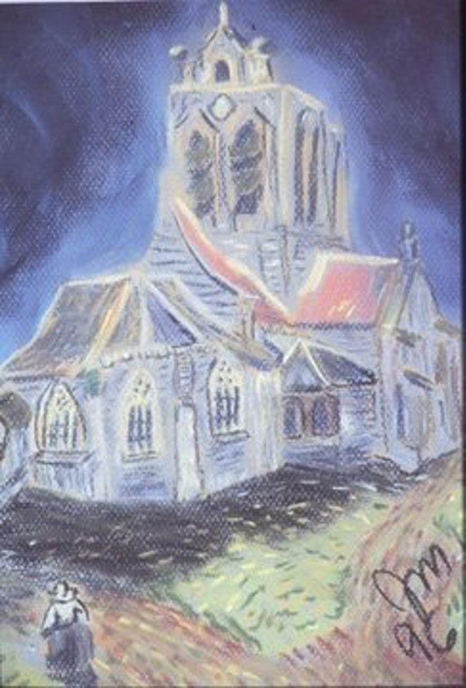 church at auver (after van gogh)