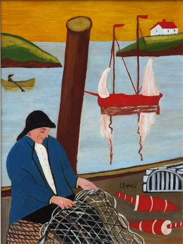 Fisherman Mending Net