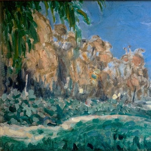 Landscape, North Africa, The Orange Grove verso., c. 1912