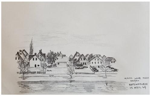 ACROSS LAKE FROM HOSTEL, KOPENHAGEN