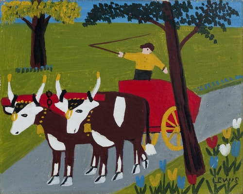 Oxcart in Spring