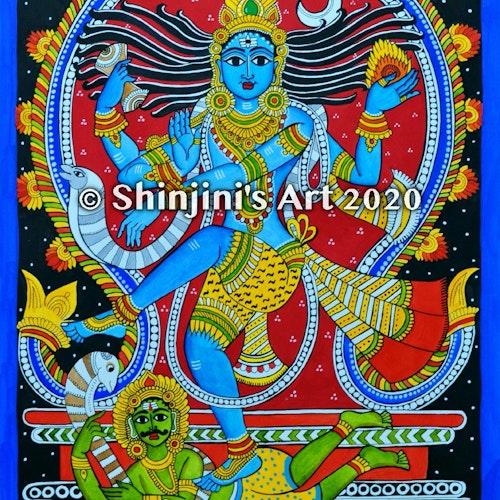 Nataraja (Indian Kalamkari Folk Art)