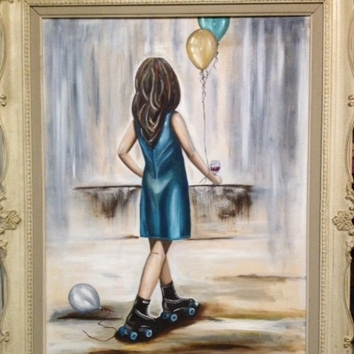SOLD - Party Girl - 24X36 - Oil on Canvas