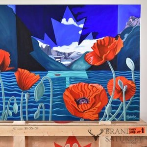 Poppies For Louise (an ode to Lake Louise)