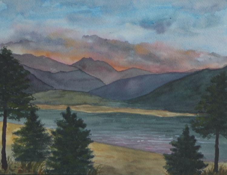 Sunset at Grand Lake