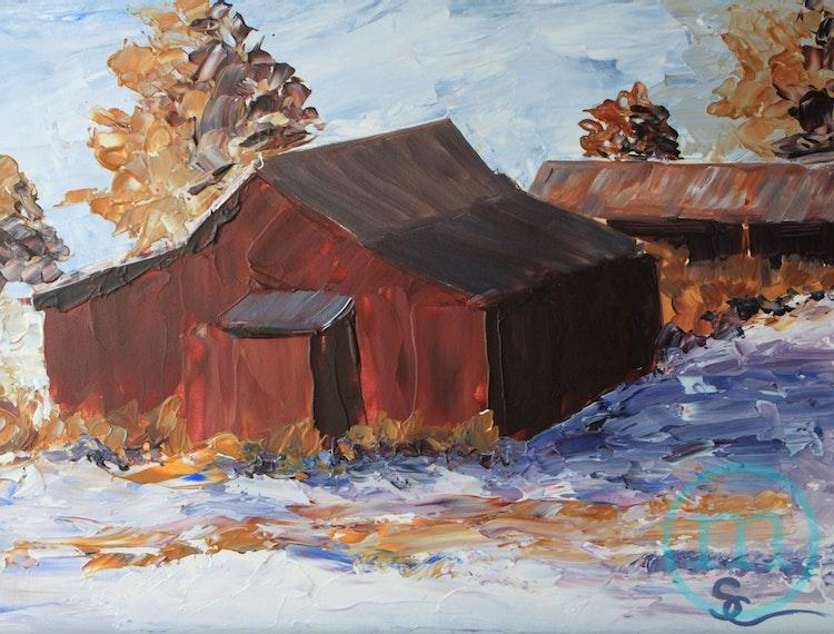 Barn on Valmont 9 x 12 Framed