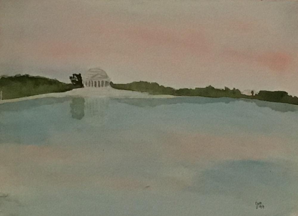 Morning on the tidal basin