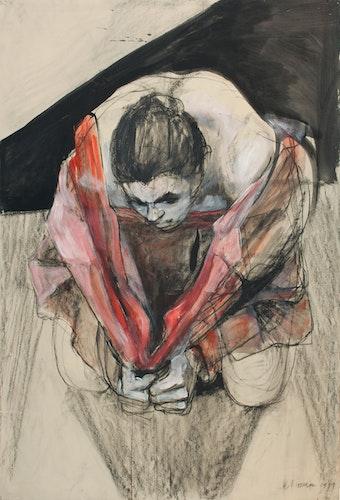 Coats, Study (Woman and Coat Kneeling)