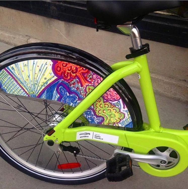 Magical Mont-Royal work on a Bixi Bike
