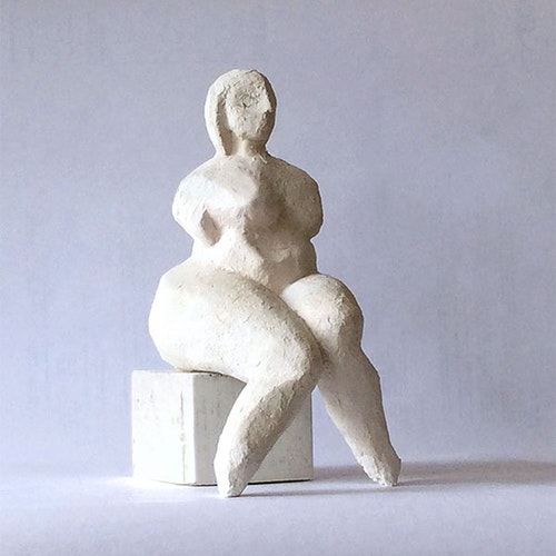 Sculpture - Seated Abstract Nude Maquette